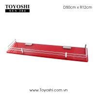Kệ phủ men màu đỏ kim sa Kích thước 12x50cm Dày: 10mm