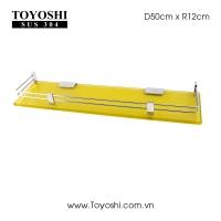 Kệ phủ men màu vàng kim sa Kích thước 12x50cm Dày: 10mm